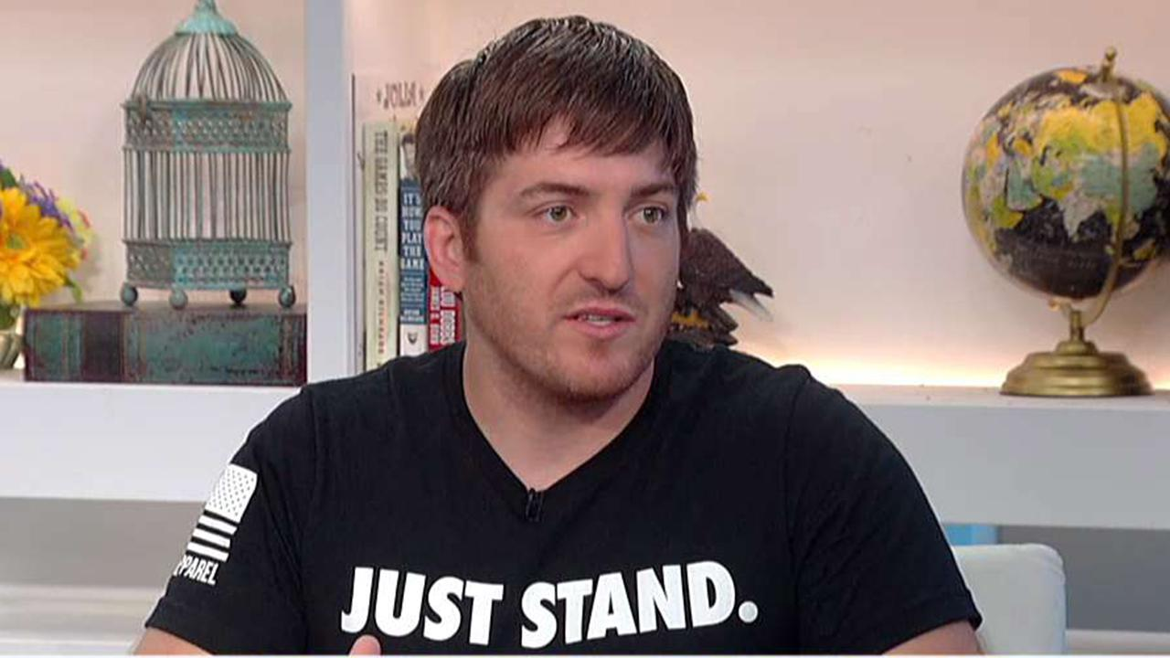 Nine Line Apparel counters Nike with 'Just Stand' shirt   Fox News Video