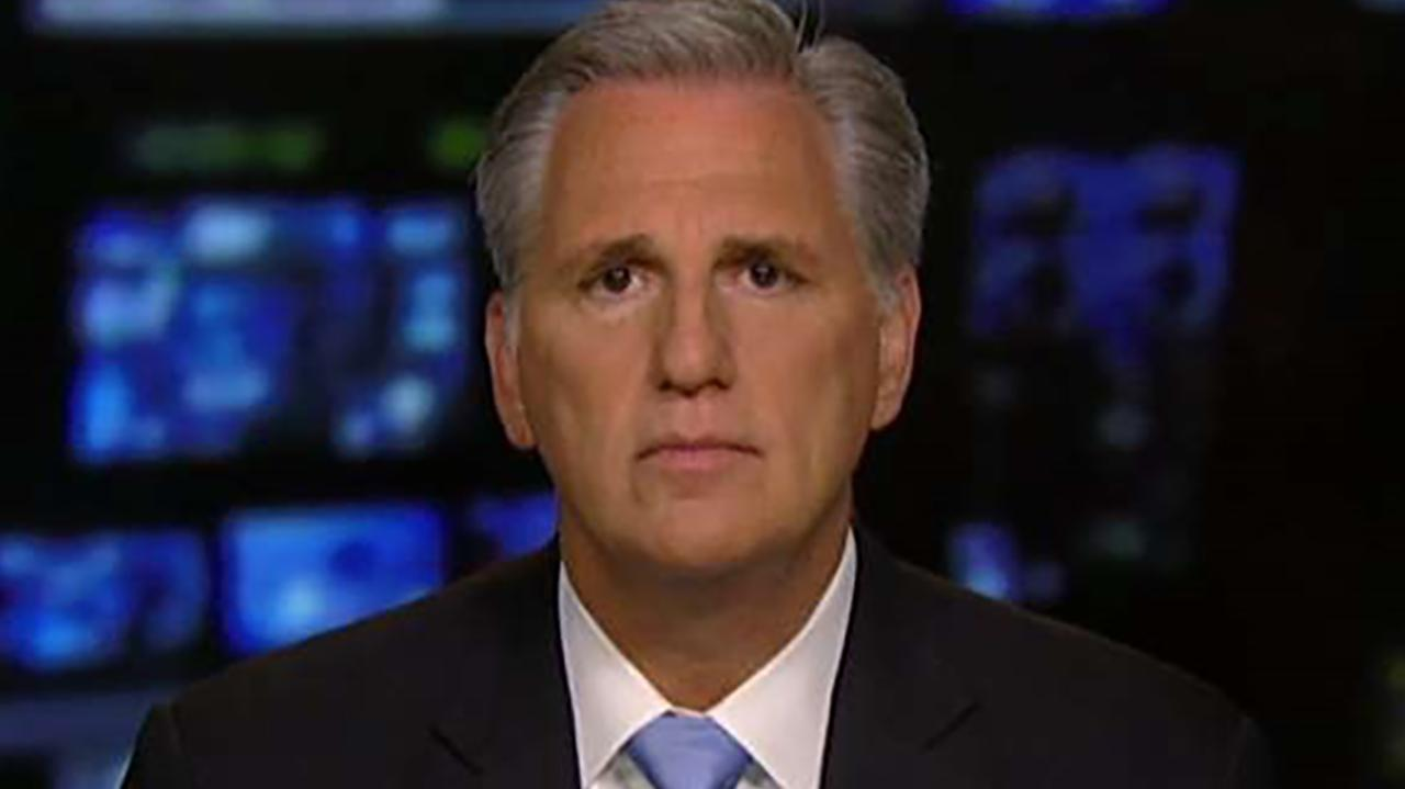 House Majority Leader Kevin McCarthy slams anonymous New York Times op-ed author as a 'coward' on 'Sunday Morning Futures.'
