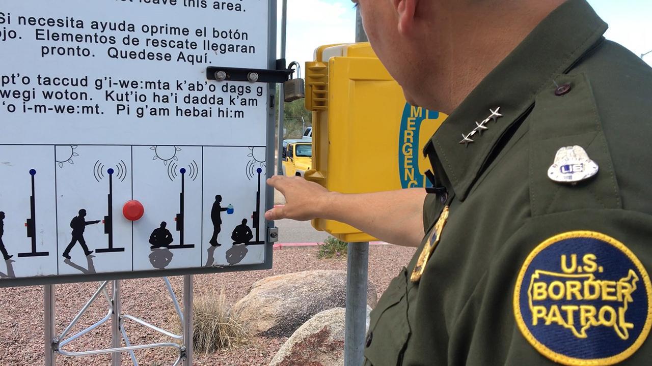 Border Patrol discourages migrants from crossing desert