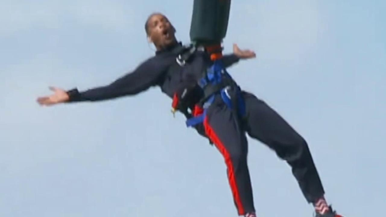 Will Smith takes on Yes Theory's challenge of bungee jumping