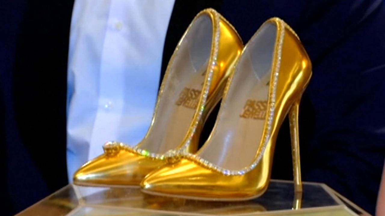 db0af16940b Worlds most expensive shoes yours for only million fox news video jpg  1280x720 Expensive gold shoes