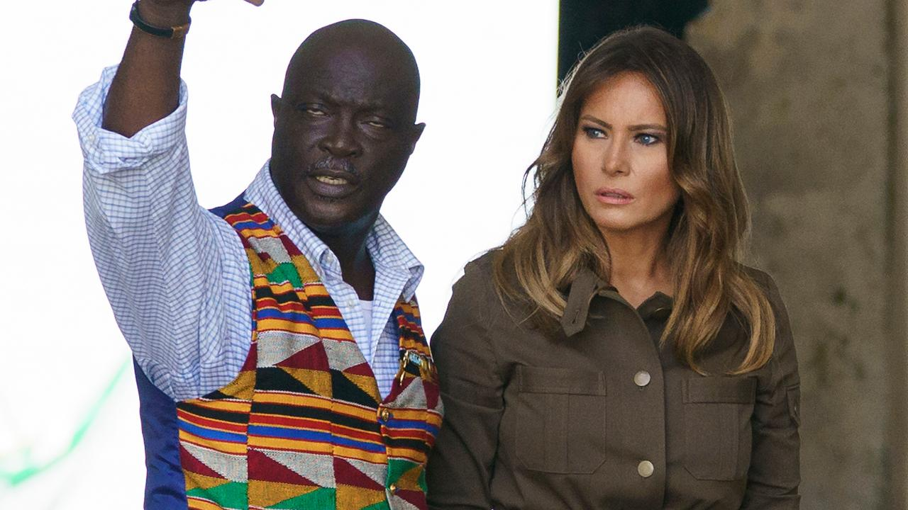 Melania Trump tours historic sites in Ghana