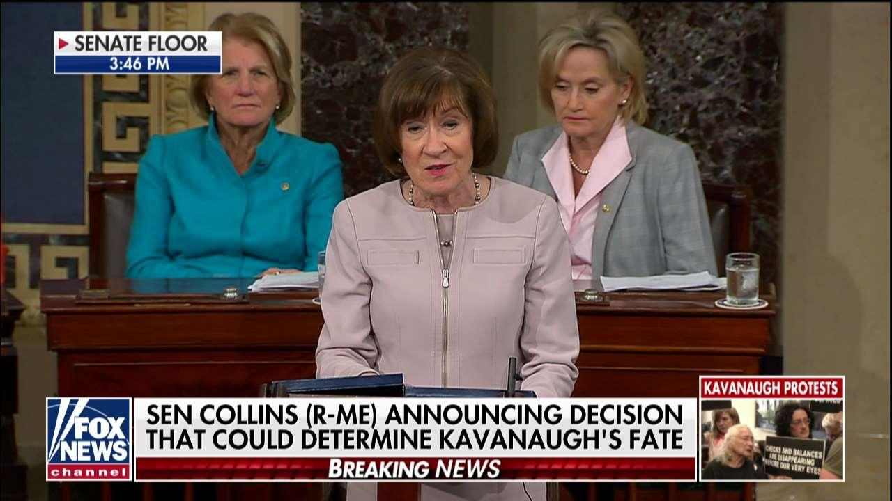 Image result for PHOTOS OF SEN COLLINS WITH KAVANAUGH
