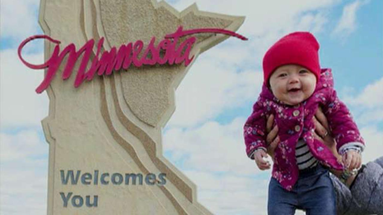 Baby, parents road tripping to 50 states for world record