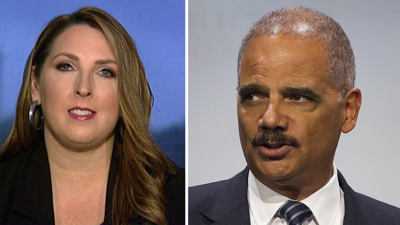 Ronna McDaniel calls Holder's remarks 'very dangerous'