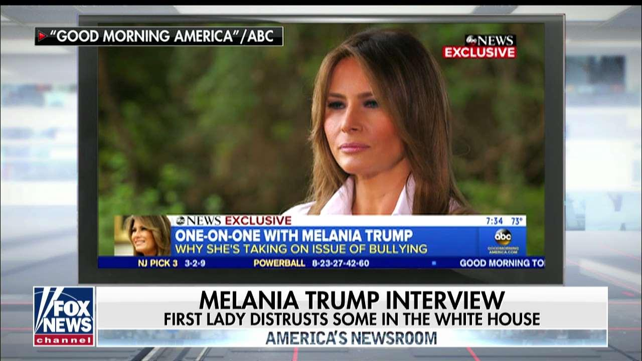 Melania Trump: people who cannot be trusted work in West Wing.