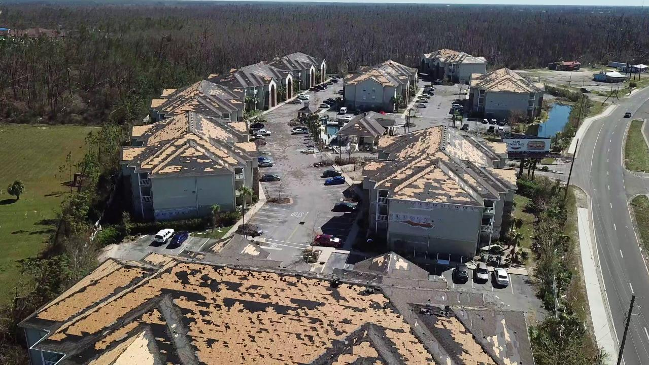 Hurricane Michael: Devastation over Panama City, Florida