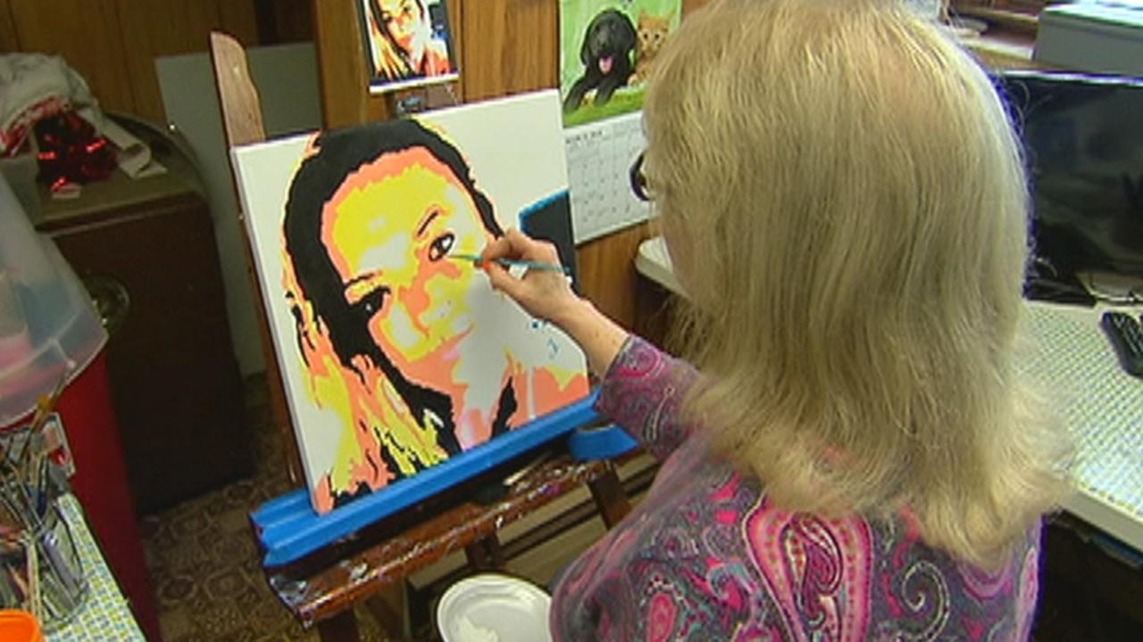 After her daughter died from an accidental drug overdose in 2014, Anne Marie Zanfagna found her calling: Painting the faces of young people whose lives were cut short by opioid addiction. For more information, visit gofundme.com/angelsofaddictions.