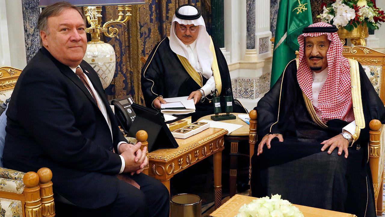 Pompeo meets with Saudi King, prince over Khashoggi case