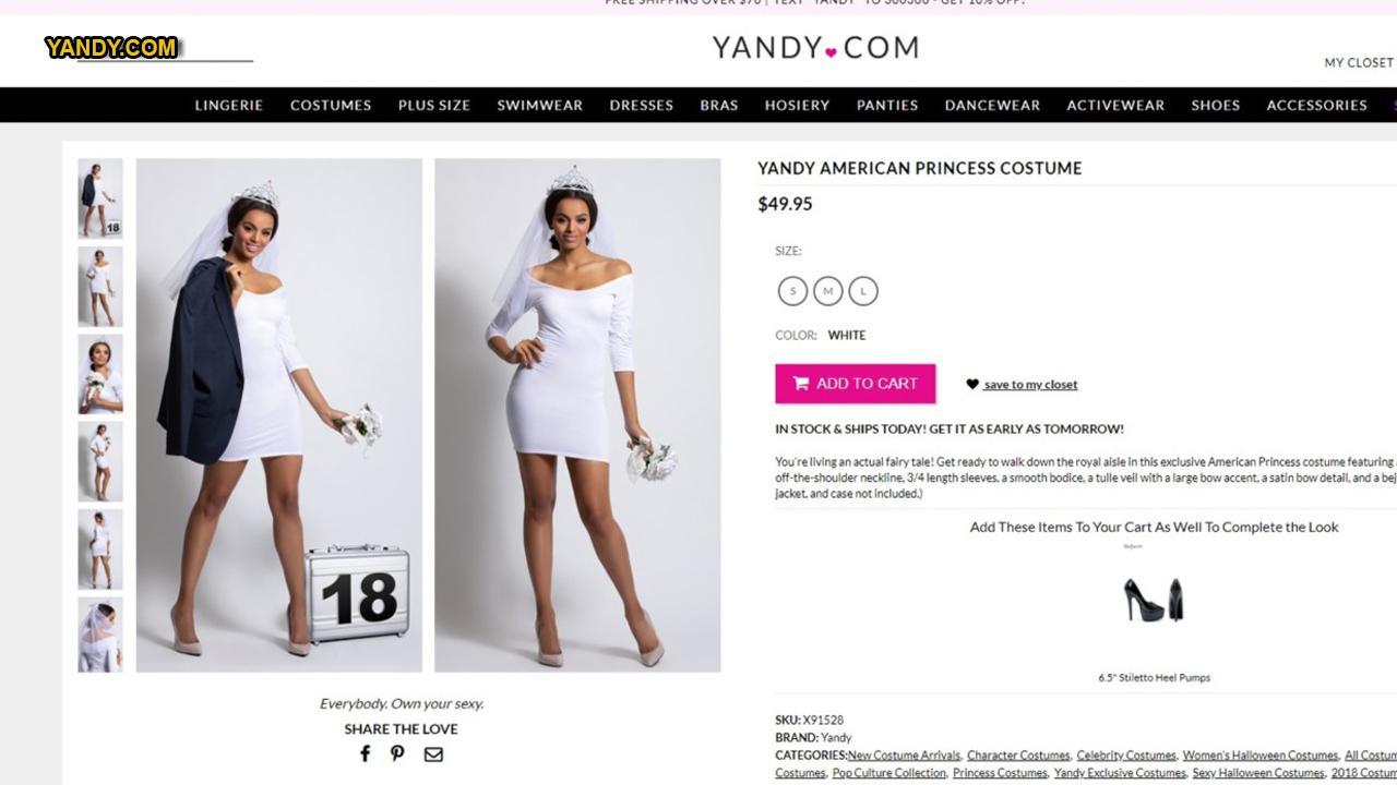 Yandy creates 'sexy' Duchess Meghan-inspired costume