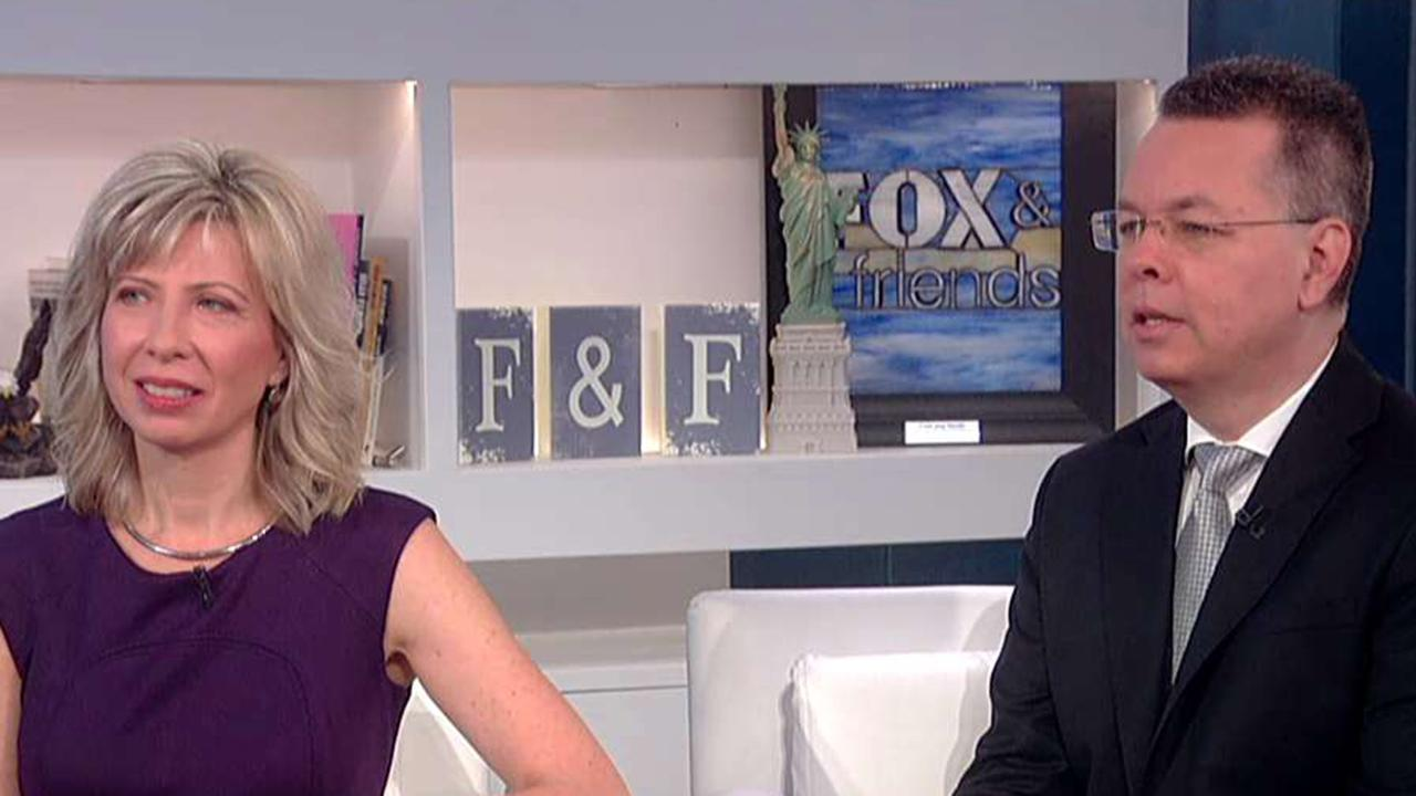 Pastor Andrew Brunson and his wife Norine speak out on 'Fox & Friends' on how they got through his two-year imprisonment in Turkey.