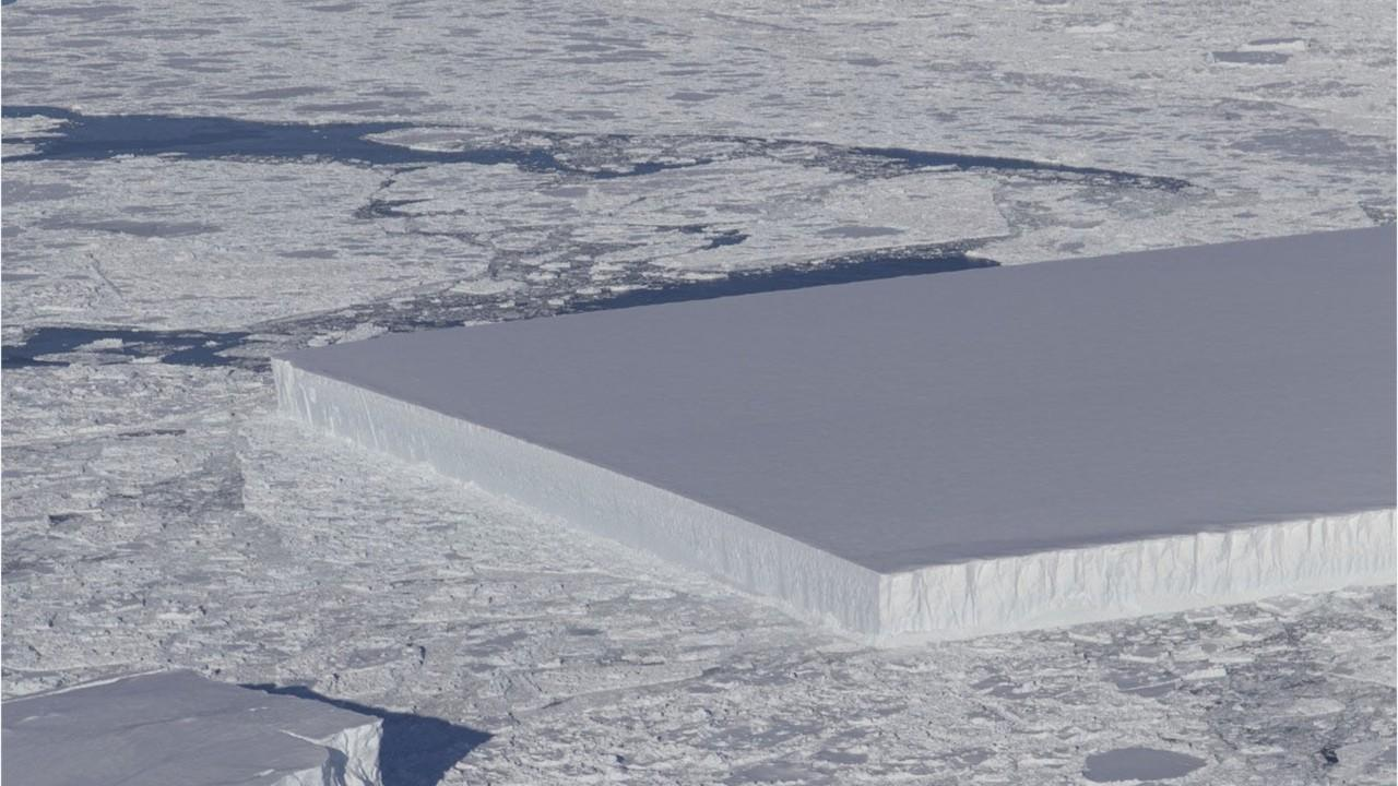 Mysterious rectangular 'monolith' iceberg spotted by NASA
