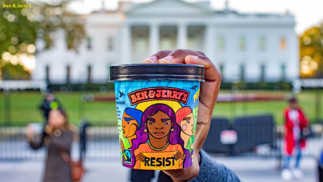 "Ben & Jerry's, the Vermont-based ice cream company known for backing progressive causes, launched a new ice cream ""Pecan Resist,"" a flavor that ""supports groups creating a more just and equitable nation for us all, and who are fighting President Trump's regressive agenda."""