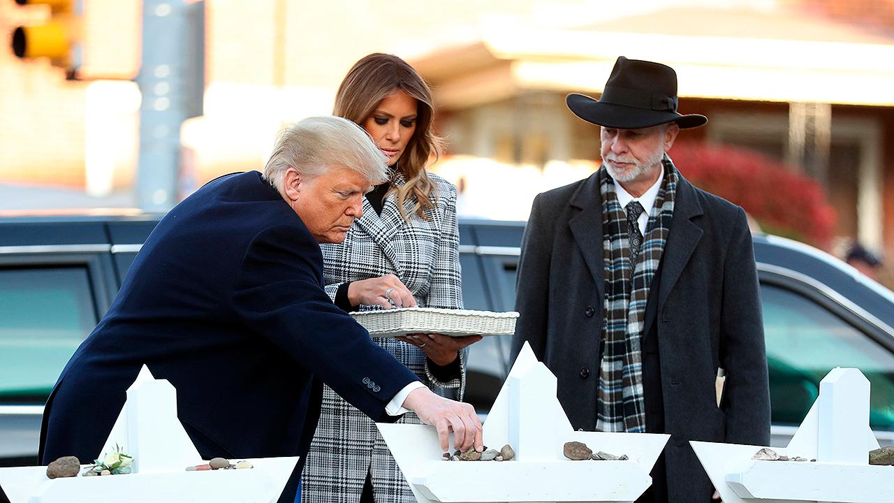 President Trump pays respects to victims of synagogue attack
