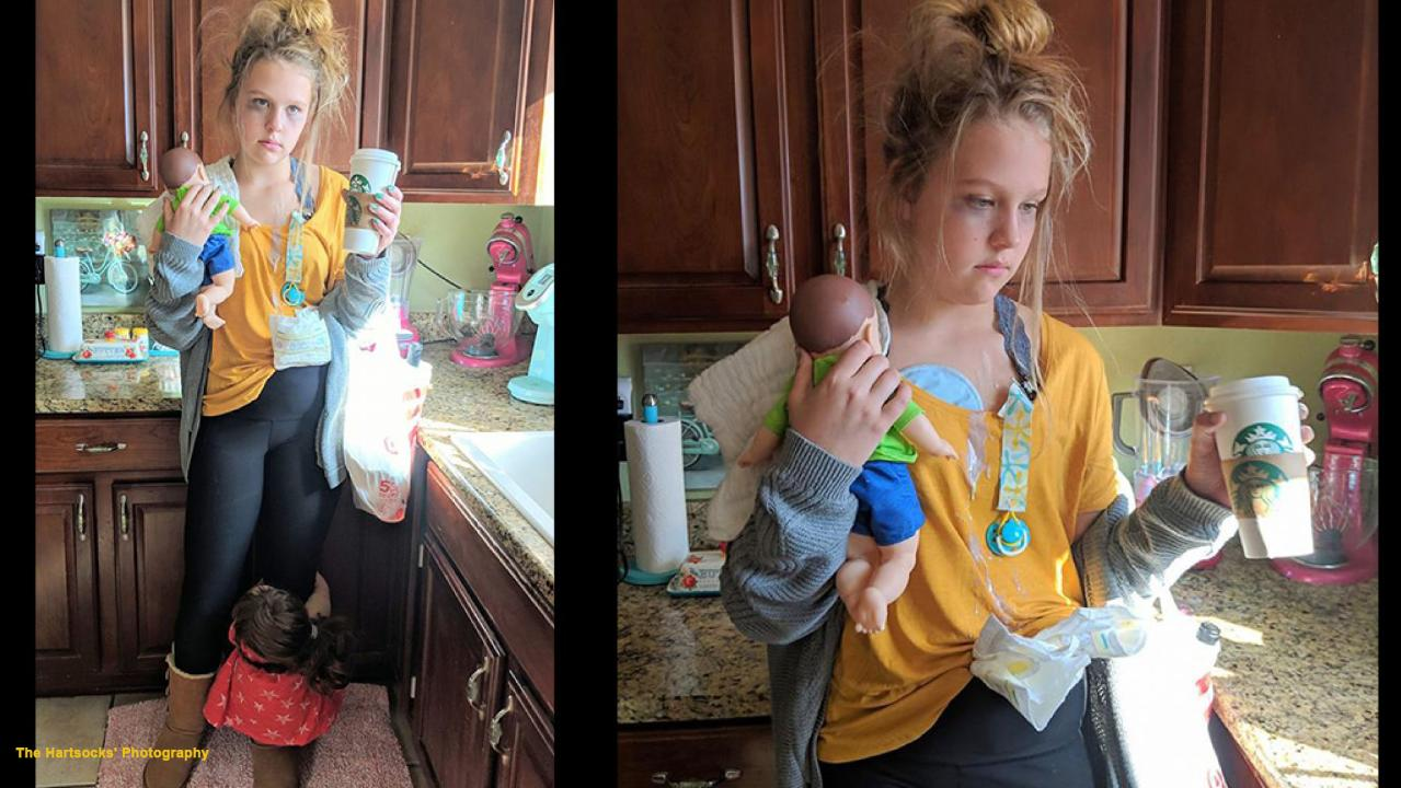 A teenager's 'perfect' tired mom Halloween costume goes viral