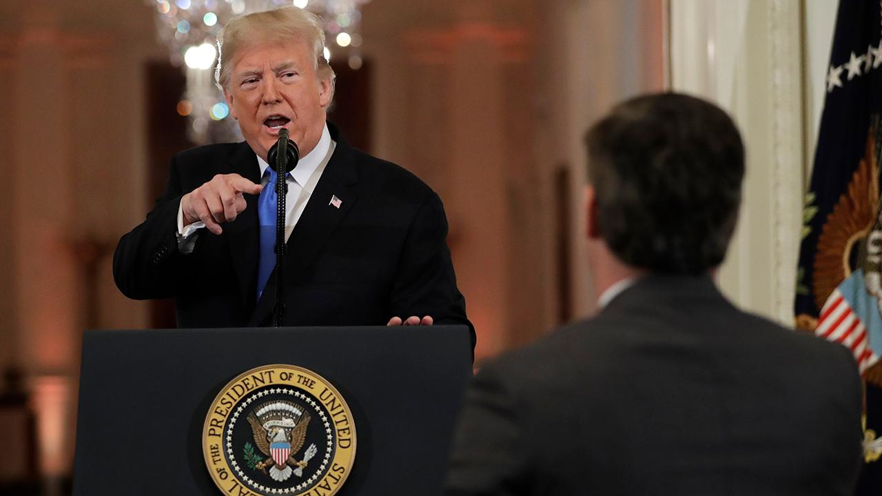 Trump to Jim Acosta: CNN should be ashamed to employ you