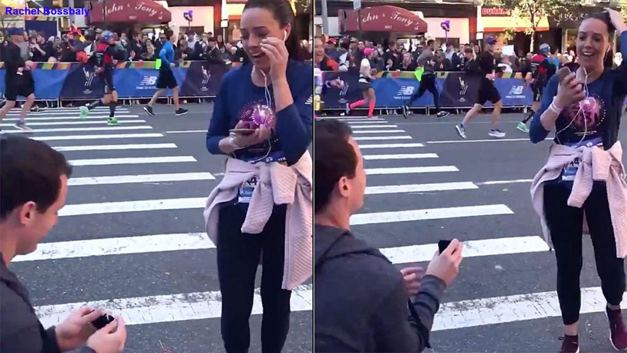 Man proposes during NYC Marathon, but gets shamed on Twitter