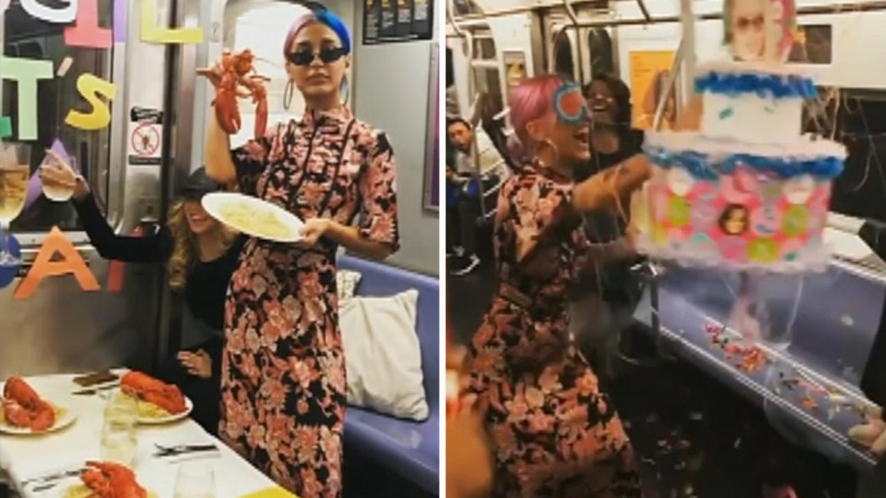 Woman Throws Birthday Party On Nyc Subway Dines On