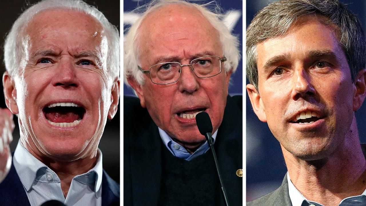 Biden, Sanders and O'Rourke lead 2020 Dem field