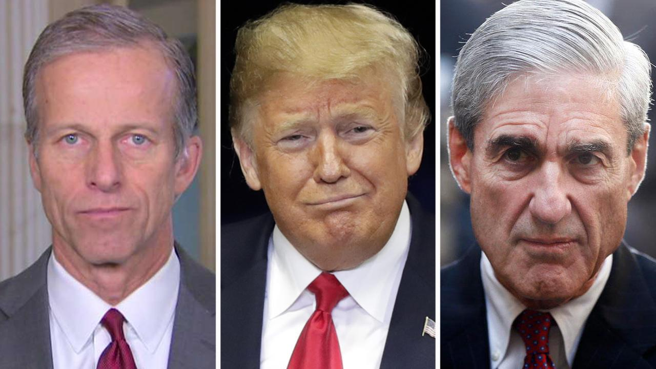 Sen. Thune: President has no intention to fire Mueller