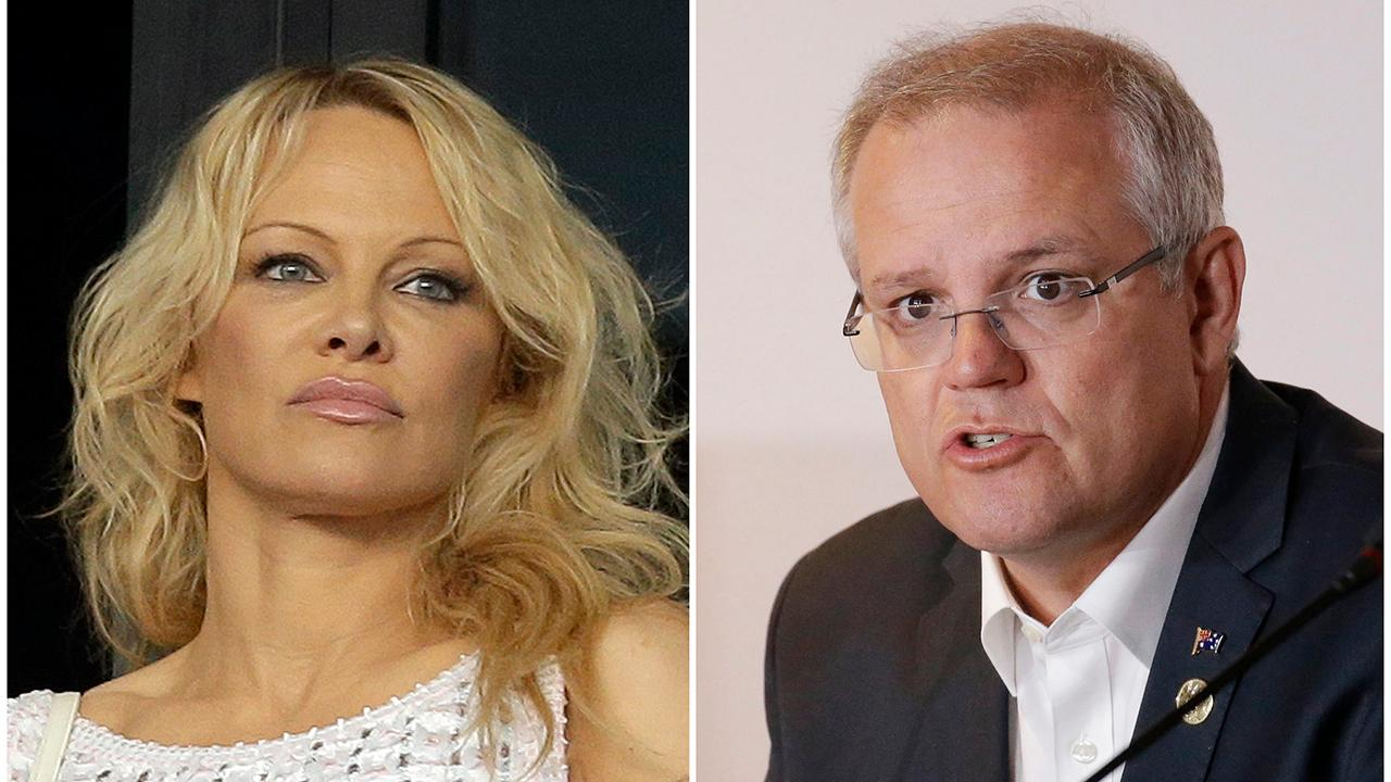 Pamela Anderson criticizes Australia's Prime Minister for 'smutty' comments