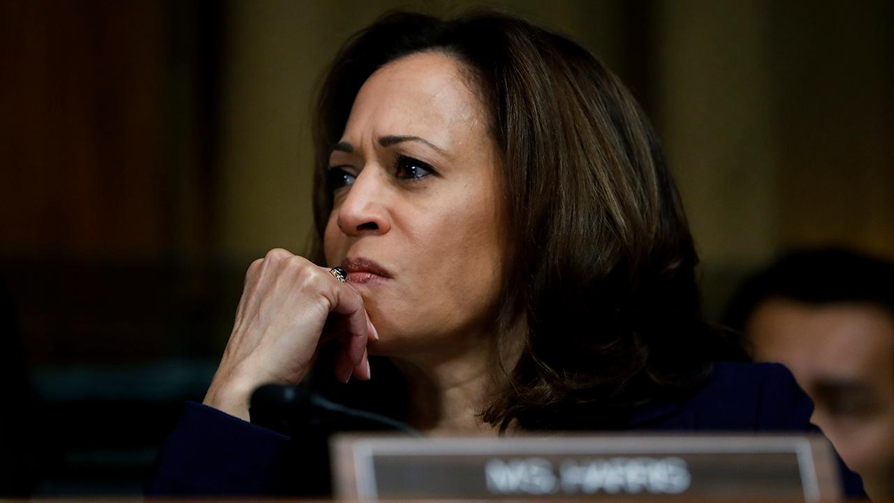 Harris and Warren, eyeing 2020, unsure whether to support Trump-backed prison reform