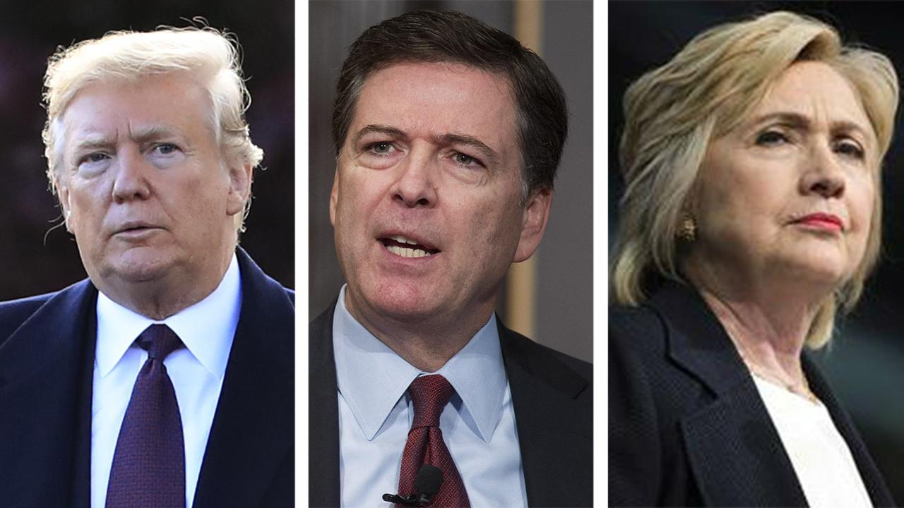Media pounce on report Trump wanted Hillary, Comey probes
