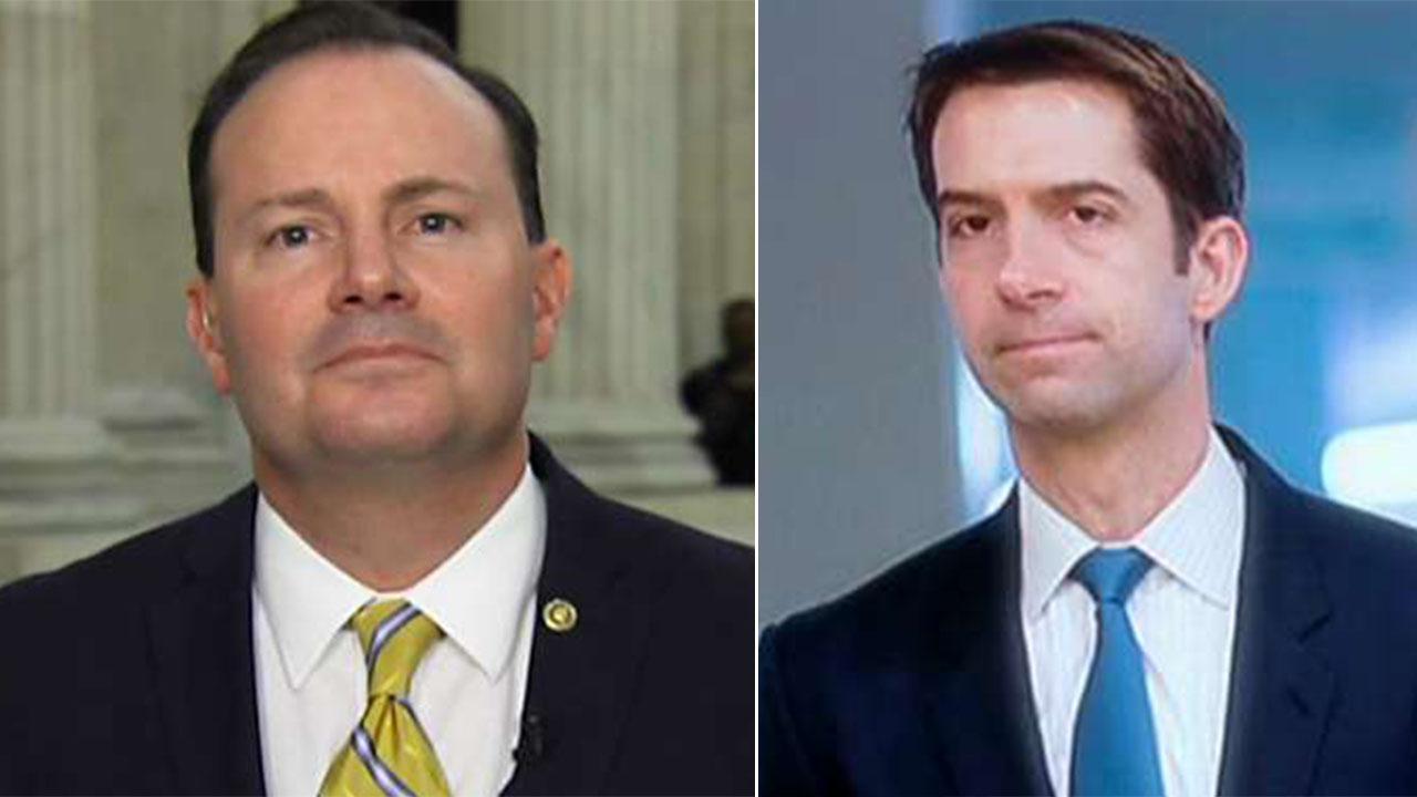 GOP Sens. Lee, Cotton spar over criminal justice reform bill