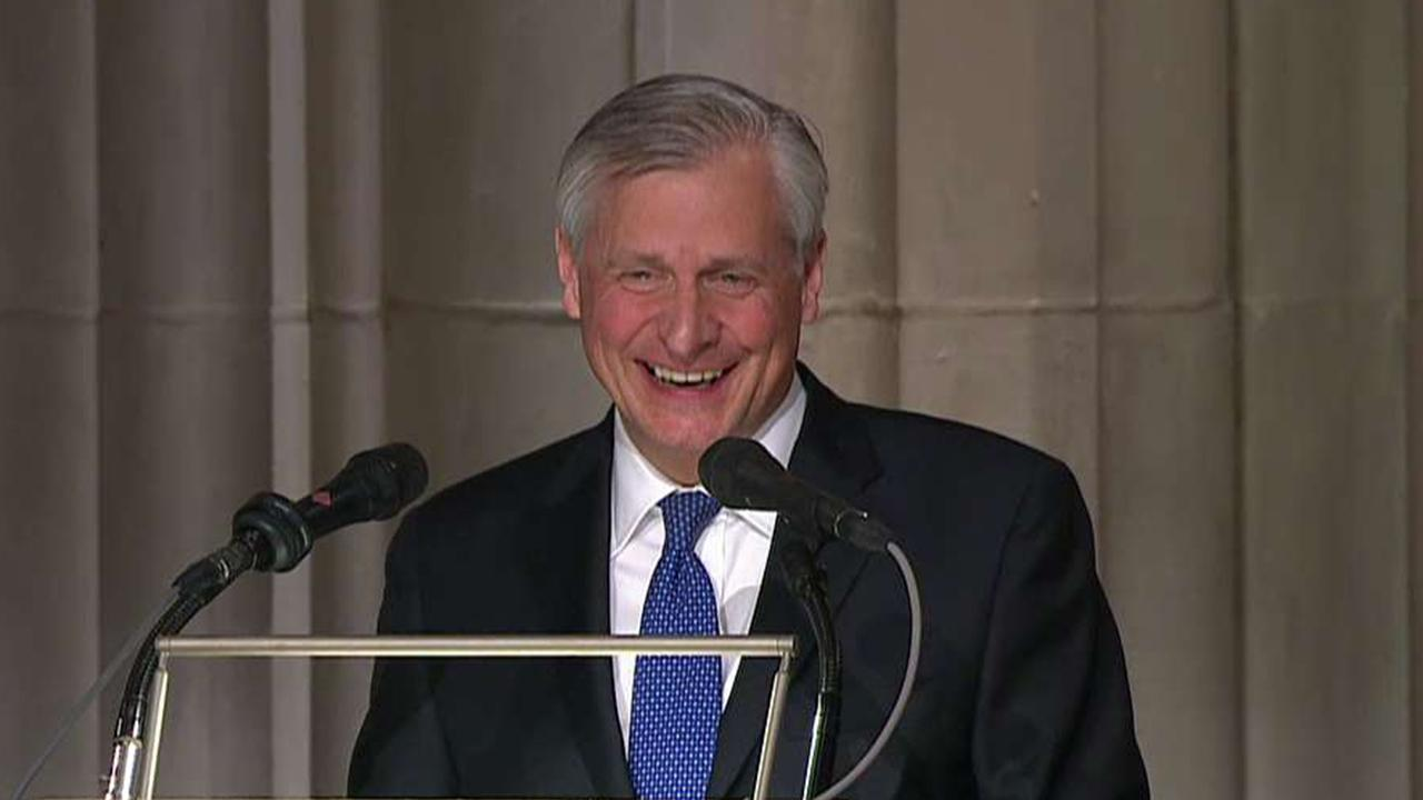 Meacham draws laughter during eulogy for George H.W. Bush