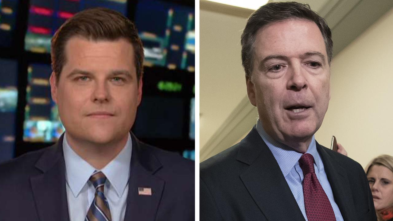 Gaetz describes Comey's testimony as 'selective amnesia'