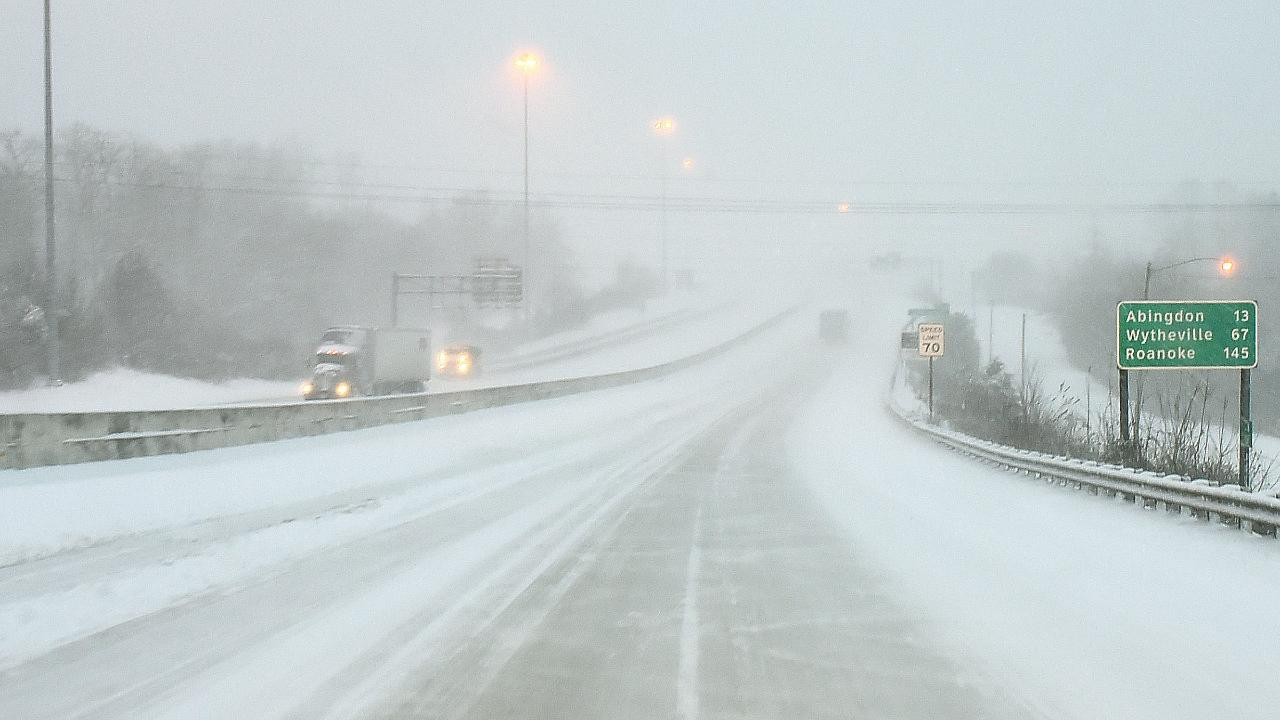 Snow storm hits southeastern states