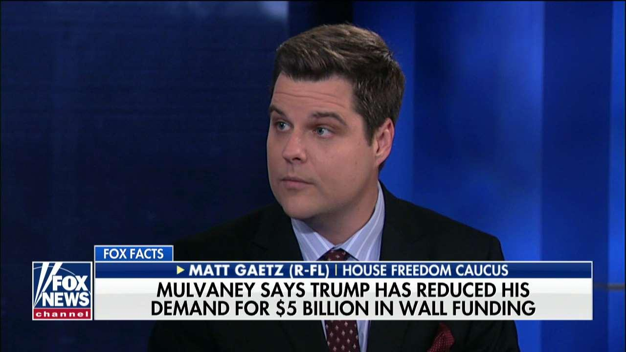 Rep. Gaetz on Trump's Border Funding Meeting: 'He Is in This for the Long Haul'