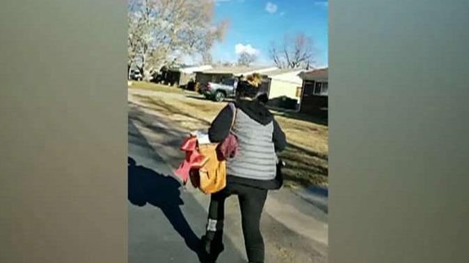 Colorado woman chases down porch thief and demands her package back in confrontation caught on tape