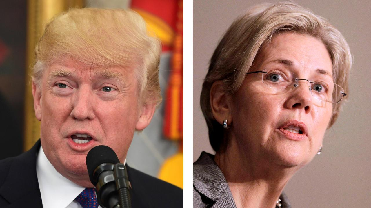 President Trump takes swipe at Sen. Warren over possible 2020 run