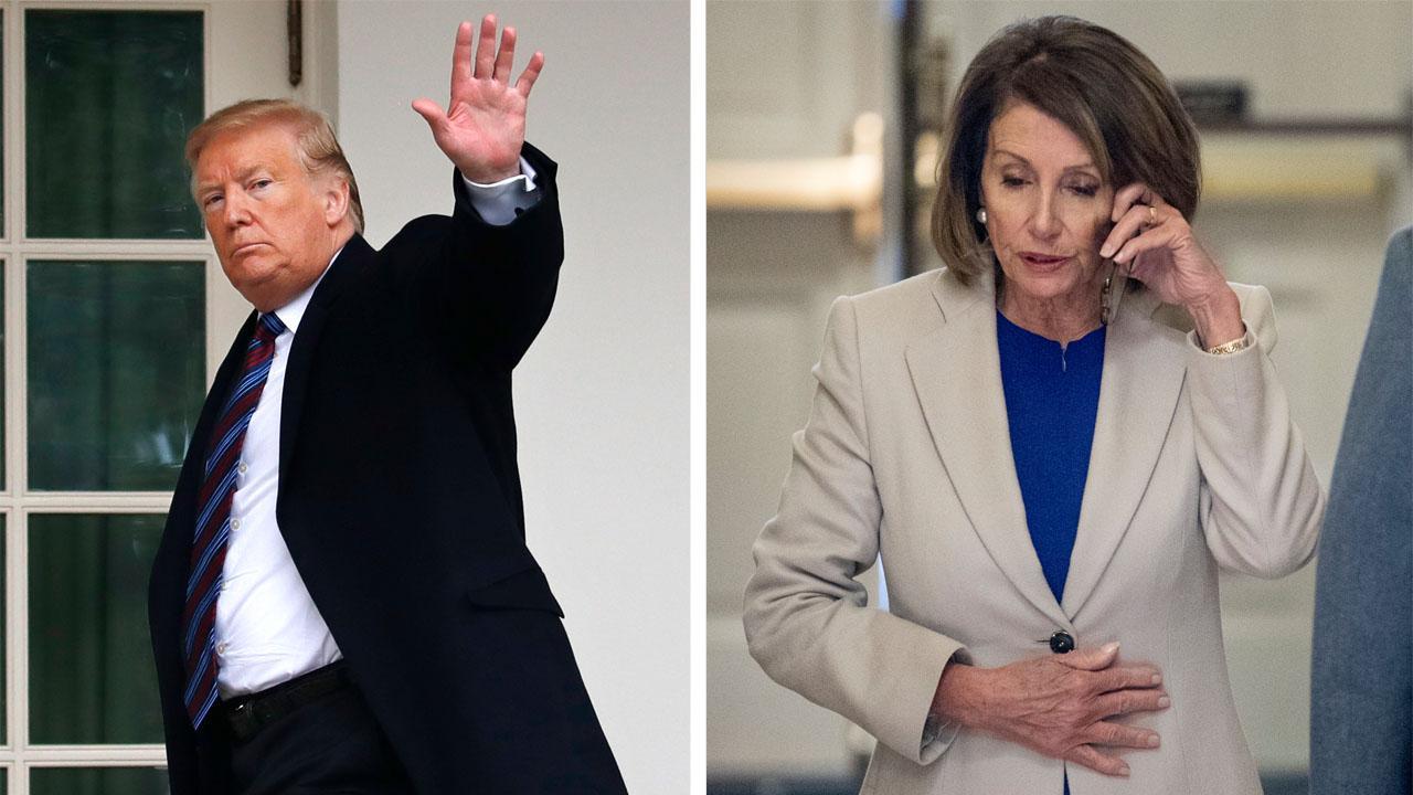 Trump suggests Pelosi should stop getting a paycheck amid shutdown