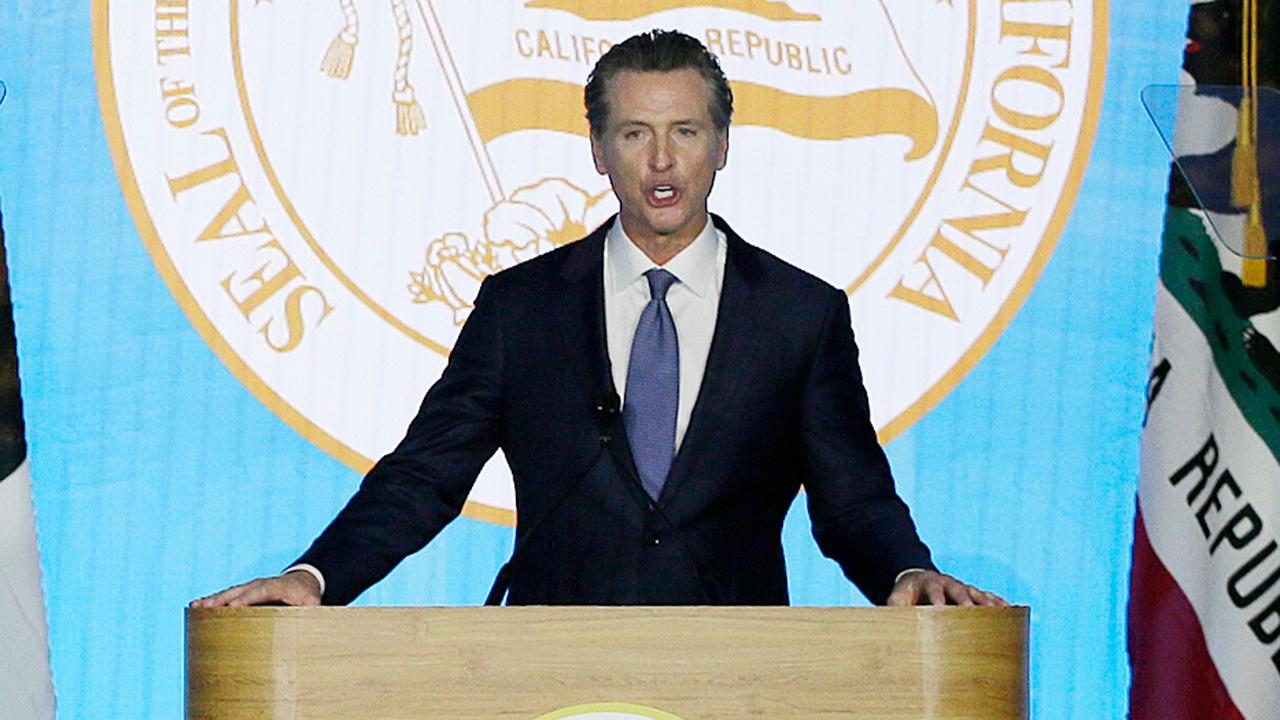 California Gov. Newsom rebukes Trump White House during inaugural address