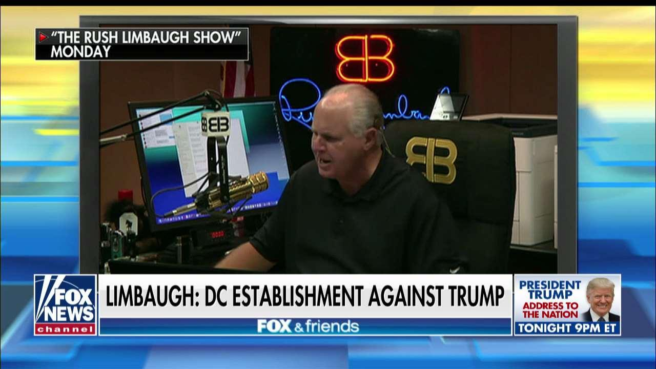 Limbaugh on Border Funding Battle: 'Why Does Trump Have to Go It Alone?'