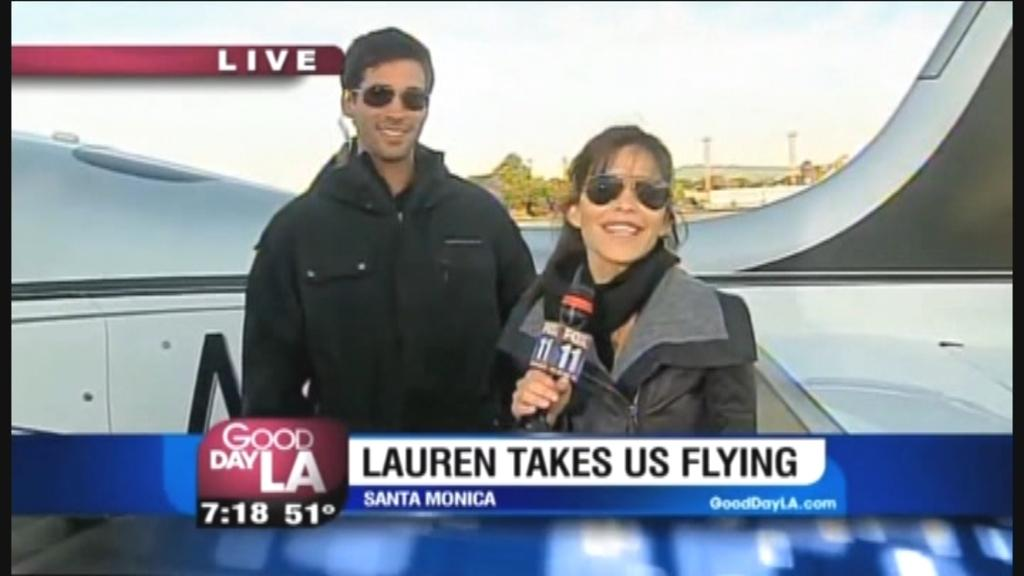 Watch Jeff Bezos' reported girlfriend Lauren Sanchez fly airplane while hosting 'Good Day LA'