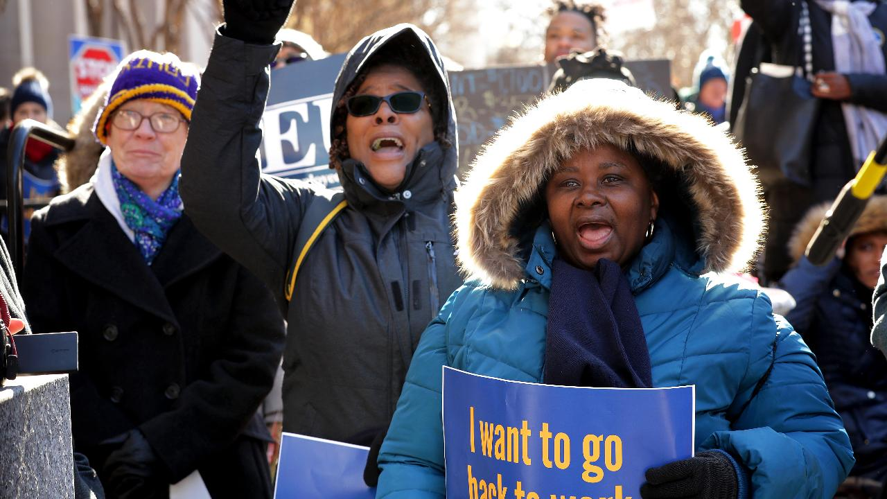 Federal workers rally nationwide for political leaders to end shutdown