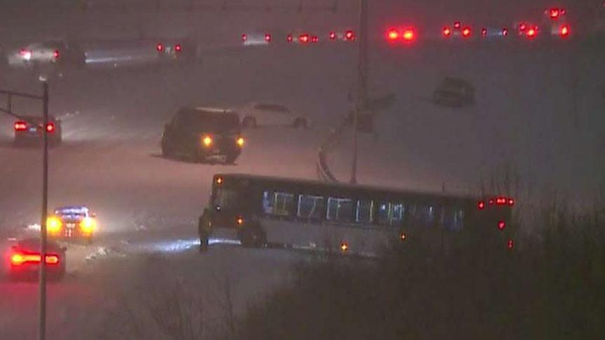 7 killed in snow-related crashes as a winter storm hits the mid-east, dropping 17 inches of snow