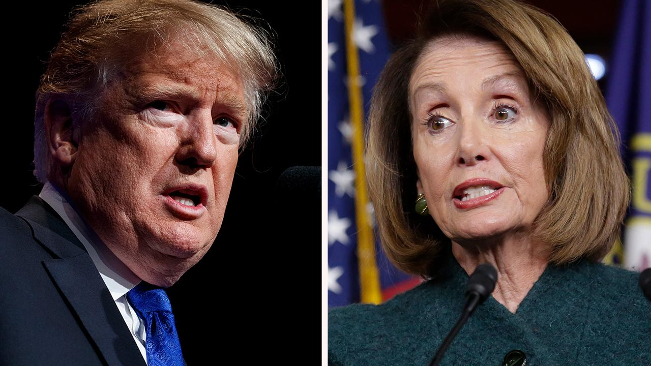 Mixed reaction on Capitol Hill after Trump grounds Pelosi's military plane amid the government shutdown