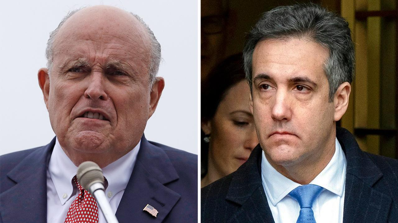 Rudy Giuliani says any suggestion that the president counseled Michael Cohen to lie is false