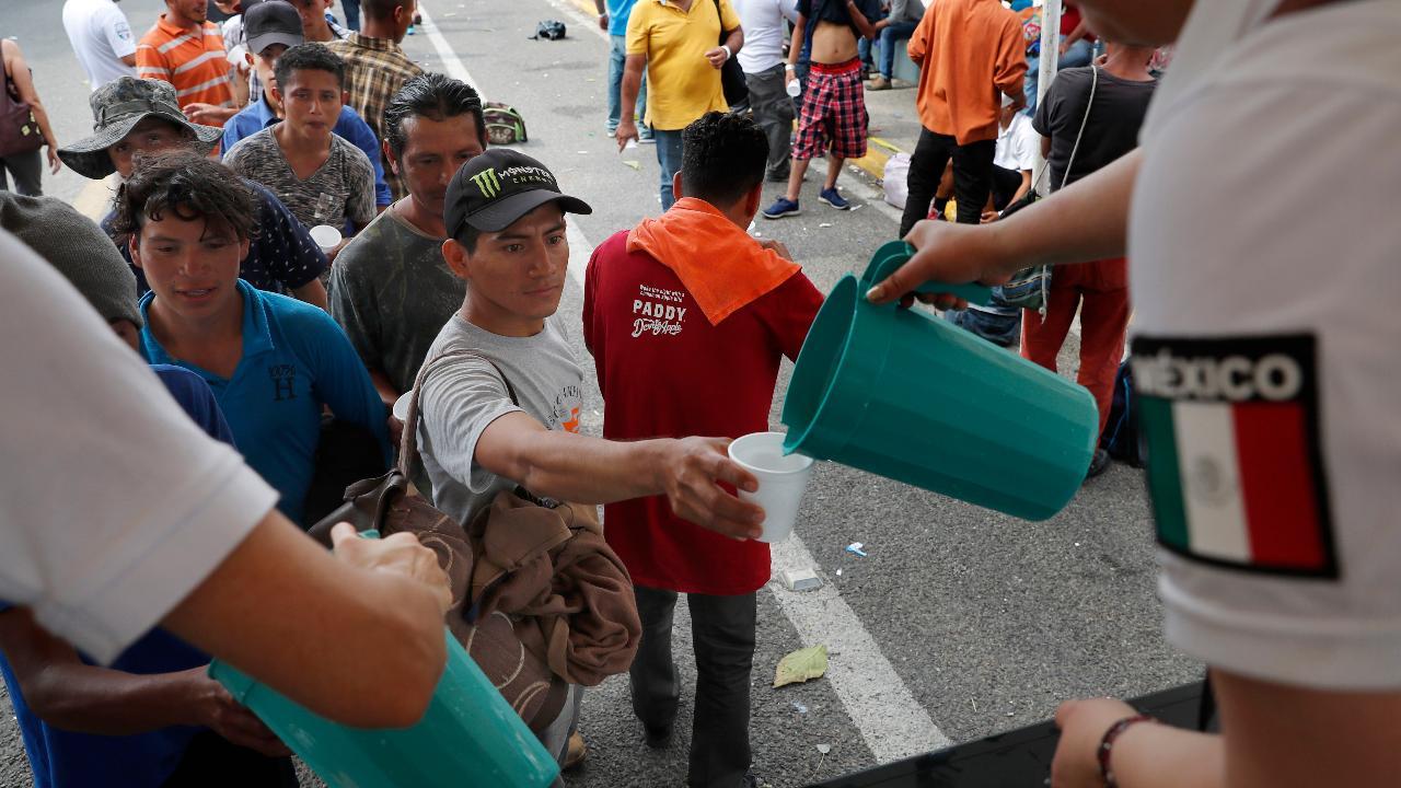 The Honduran migrant caravan is now in Mexico; Griff Jenkins has more.