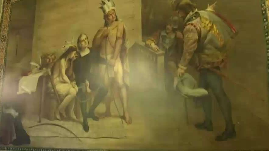 Notre Dame to cover historic Christopher Columbus murals that have been hanging for 130 years