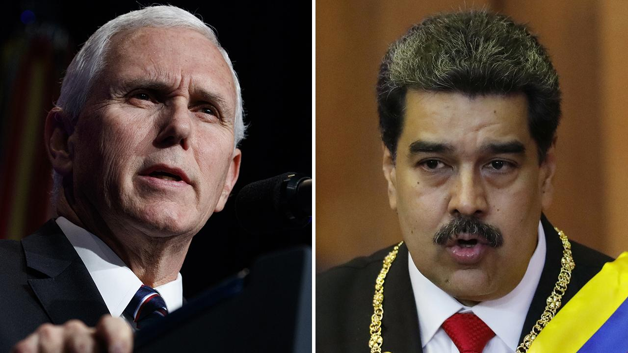 'Maduro must go': Pence officially backs Venezuelan opposition, condemns President Maduro