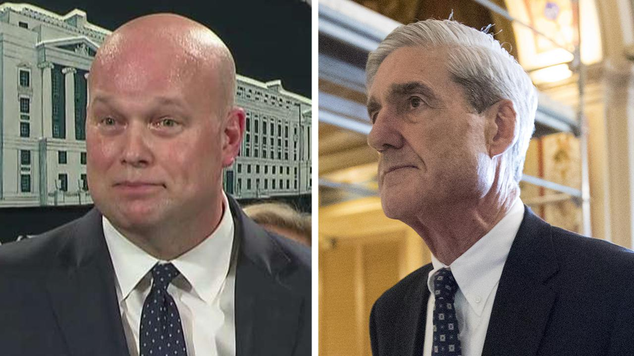 Acting Attorney General Matthew Whitaker says the Mueller investigation is close to being completed