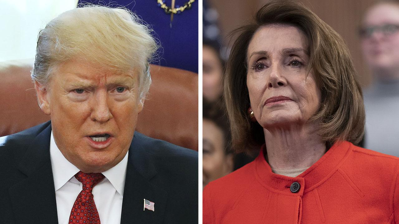 Trump spars with Pelosi over border wall, talks trade with Chinese vice premier