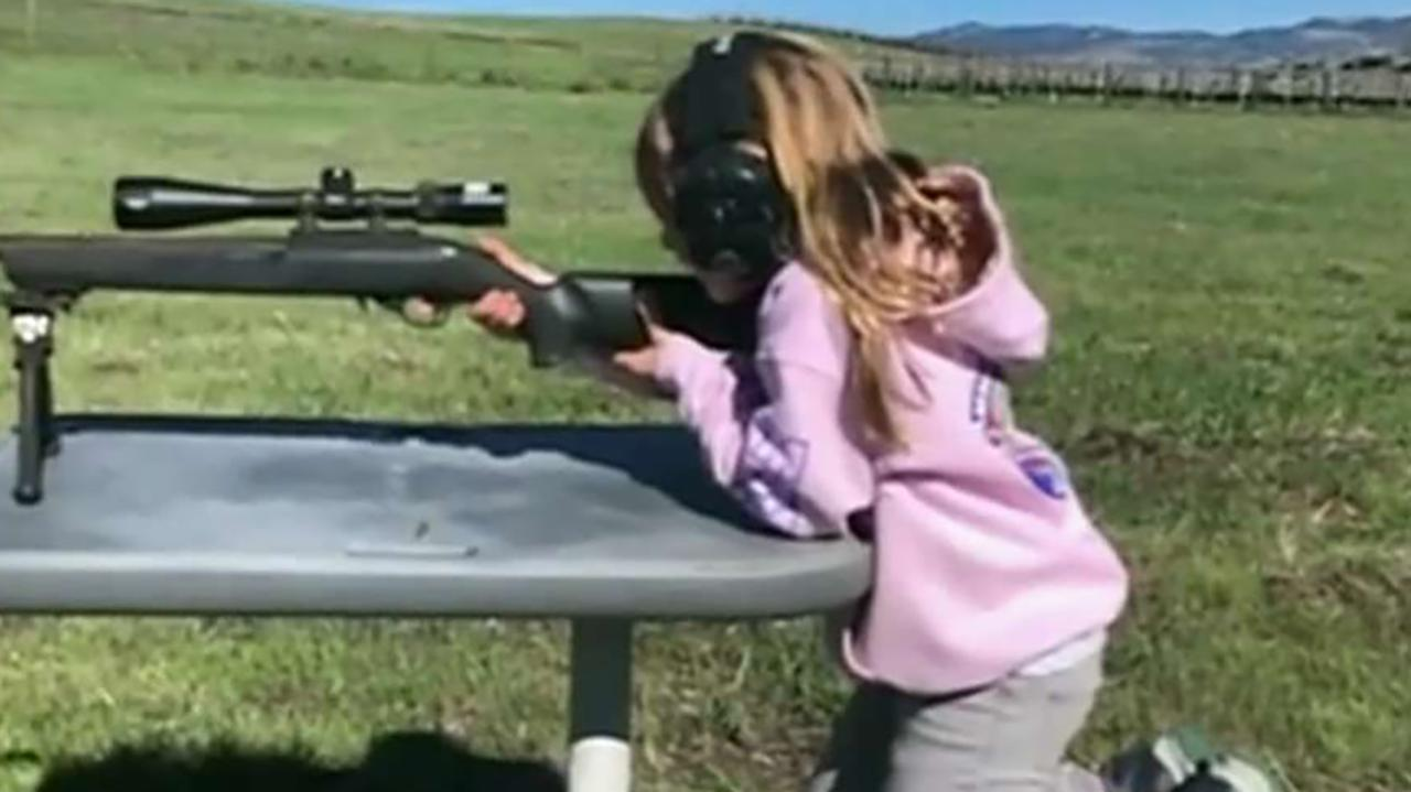 Motocross rider Carey Hart criticized for teaching daughter gun safety