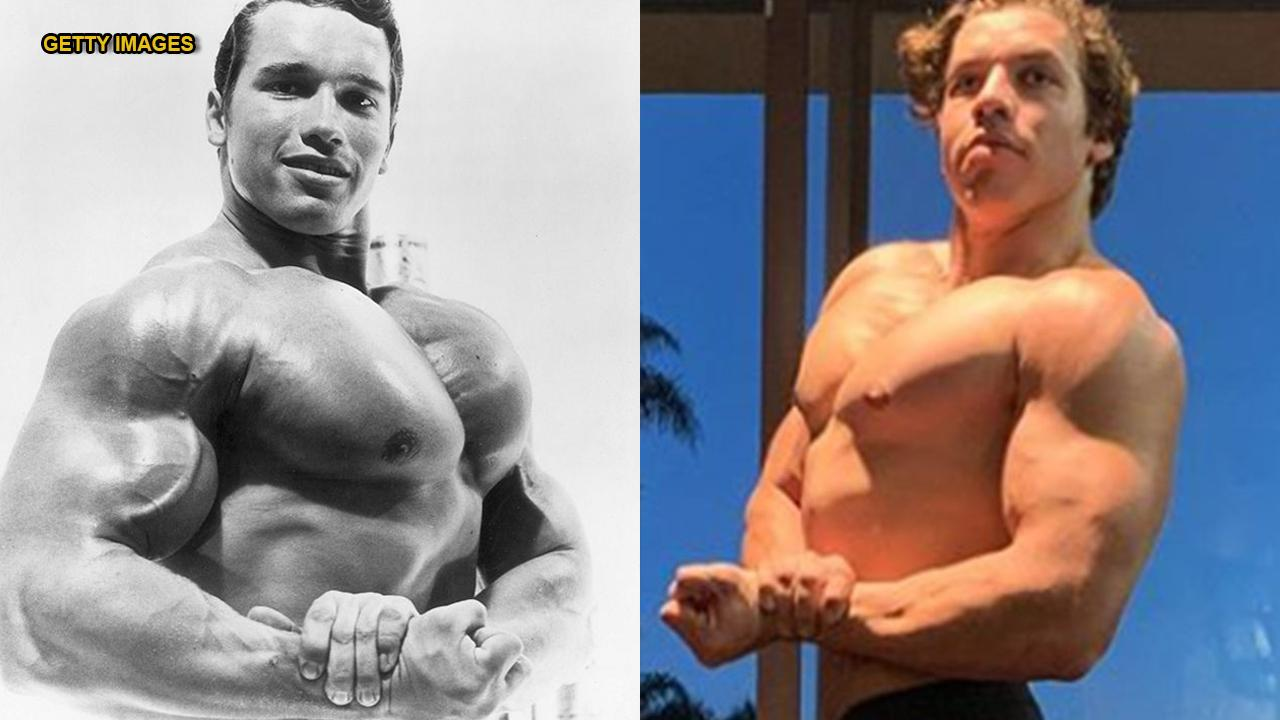 Arnold Schwarzenegger's son recreates another of the bodybuilding legend's poses
