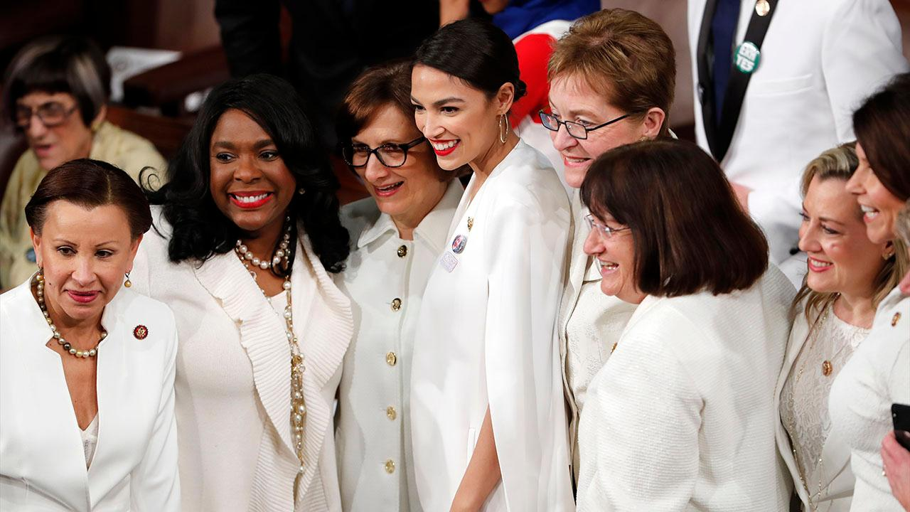 Female House Democrats organize 'white out' during State of the Union